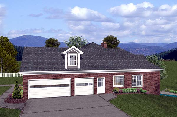 One-Story, Traditional House Plan 74813 with 4 Beds, 3 Baths, 3 Car Garage Picture 1