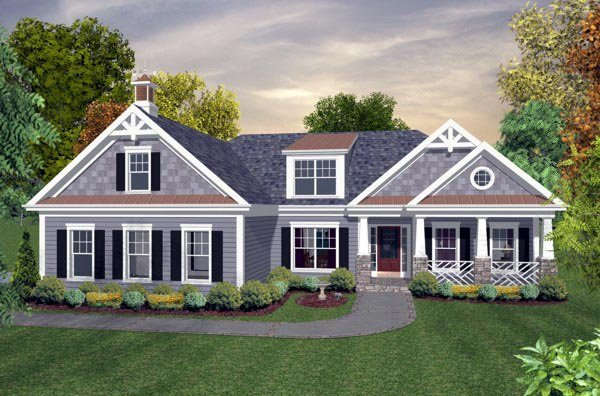 Craftsman Traditional House Plan 74818 Elevation