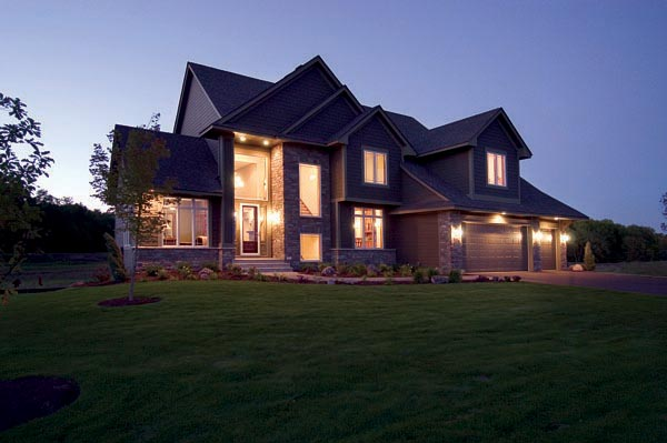 House Plan 74823 | Craftsman European Style Plan with 3347 Sq Ft, 4 Bedrooms, 4 Bathrooms, 3 Car Garage Elevation