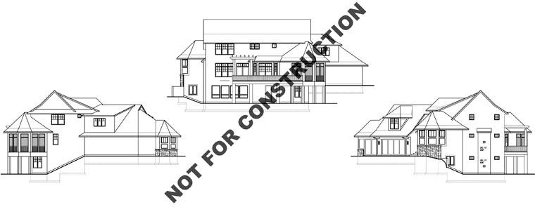 Craftsman House Plan 74828 Rear Elevation