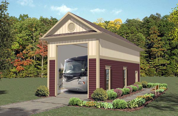 Garage Plan 74835 Elevation