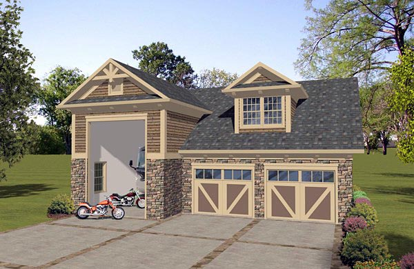 Craftsman Tudor Garage Plan 74836 Elevation