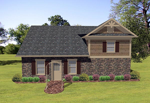 Craftsman Tudor Garage Plan 74836 Rear Elevation