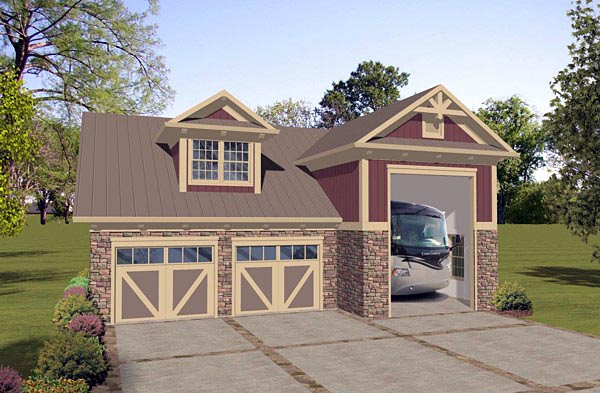 Craftsman Tudor Garage Plan 74837 Elevation