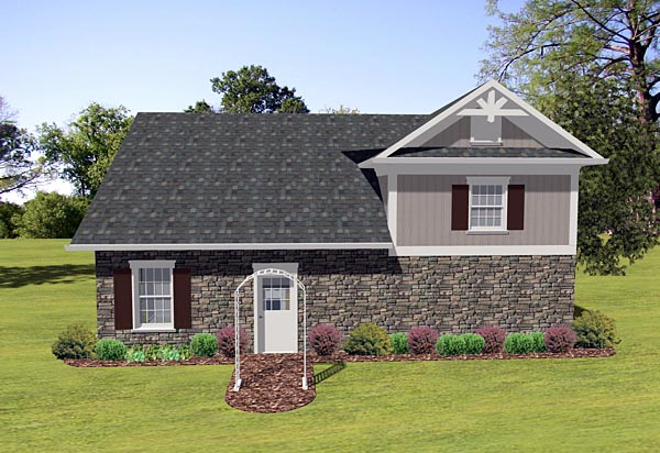 Traditional Garage Plan 74838 Rear Elevation