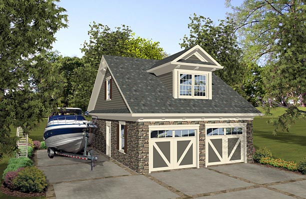 Garage Plan 74839 Elevation