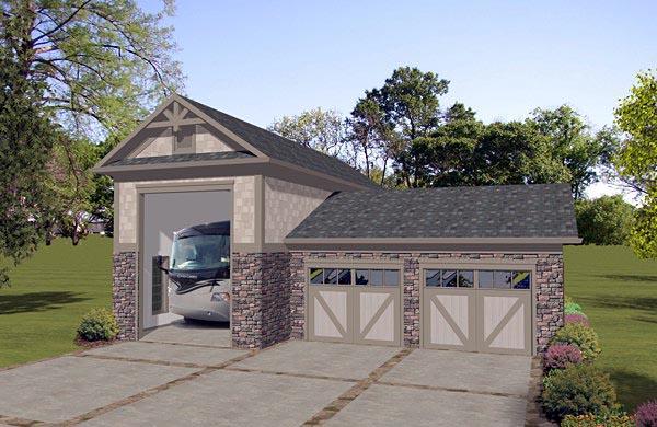 Garage Plan 74840 Elevation