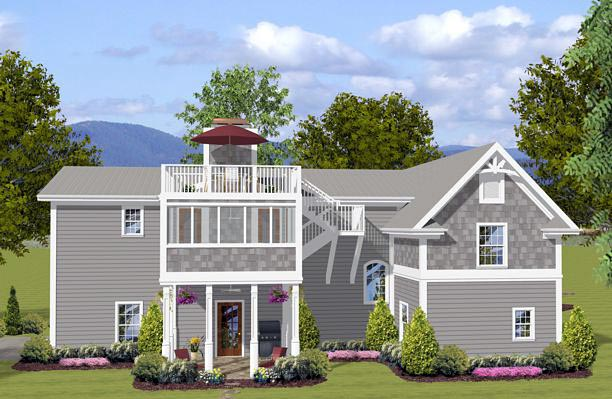 Craftsman Garage Plan 74841 Rear Elevation