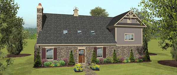 Garage Plan 74842 Rear Elevation