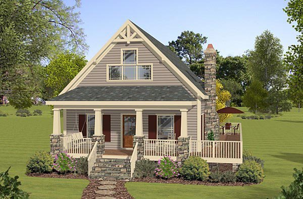 Cottage Country House Plan 74846 Elevation
