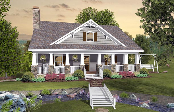 Cottage Country Craftsman House Plan 74849 Elevation