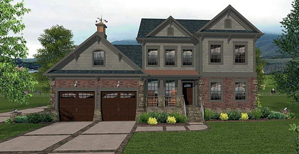 Country Craftsman House Plan 74856 Elevation