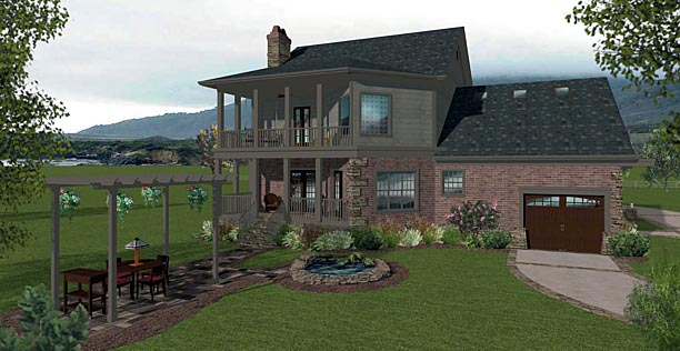 Country Craftsman House Plan 74856 Rear Elevation