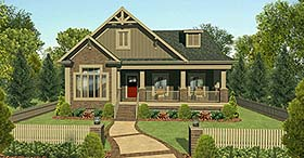 Contemporary Country Craftsman House Plan 74857 Elevation