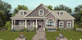 Cottage Country Craftsman Traditional House Plan 74861 Elevation