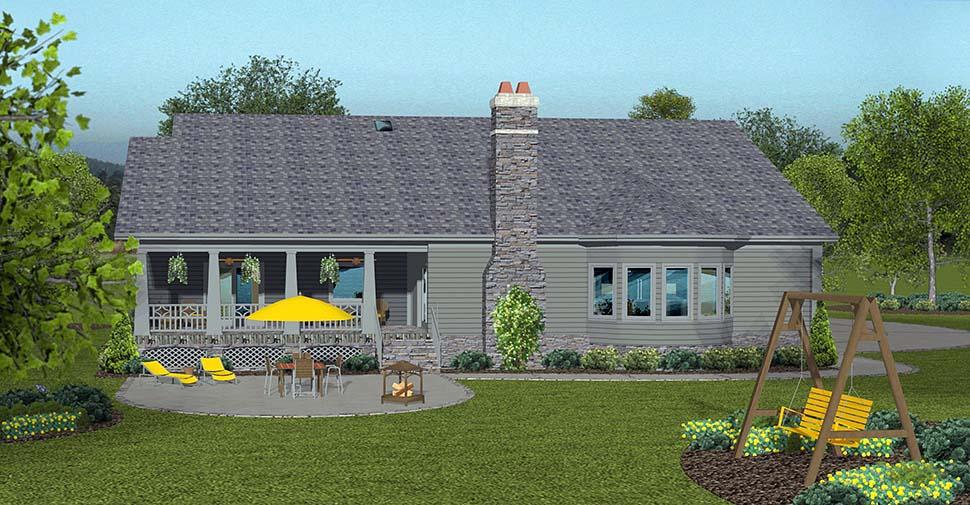 Cottage Craftsman Traditional House Plan 74862 Rear Elevation