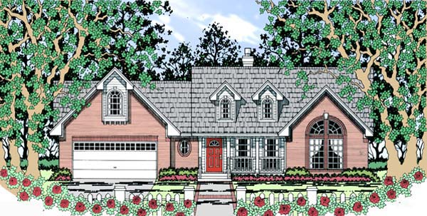 Cape Cod Country House Plan 75000 Elevation