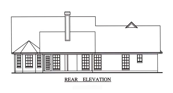 Cape Cod Country House Plan 75000 Rear Elevation