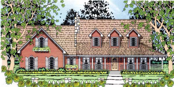 Country House Plan 75001 Elevation