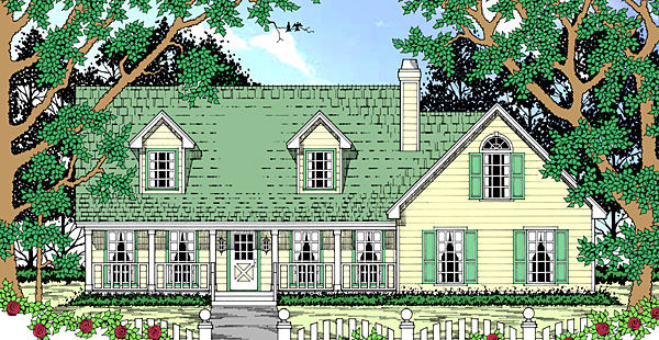 Country House Plan 75002 with 3 Beds, 3 Baths, 2 Car Garage Elevation