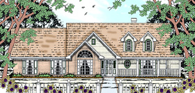 Cape Cod Country House Plan 75003 Elevation