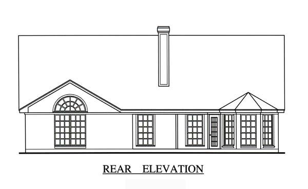 Cape Cod House Plan 75004 Rear Elevation