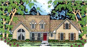 House Plan 75006 | Country Style House Plan with 1876 Sq Ft, 4 Bed, 2 Bath, 2 Car Garage Elevation