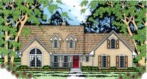 Country House Plan 75006 Elevation