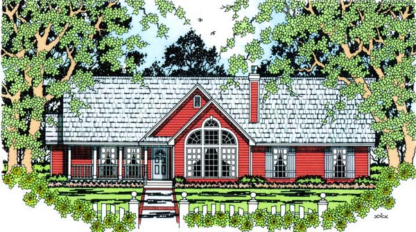 Country House Plan 75007 Elevation