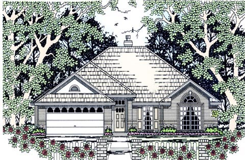 Traditional House Plan 75009 Elevation