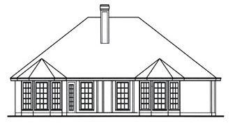 Traditional House Plan 75009 Rear Elevation