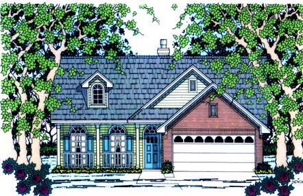 Traditional House Plan 75011 Elevation