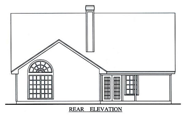 Traditional House Plan 75011 Rear Elevation
