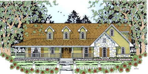 Country House Plan 75012 Elevation