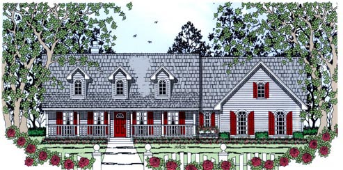 Country House Plan 75014 Elevation