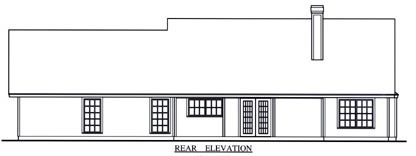Country House Plan 75014 Rear Elevation