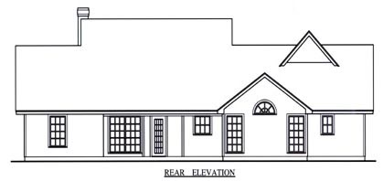 Country Traditional House Plan 75015 Rear Elevation