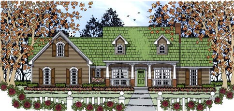 Country House Plan 75016 Elevation