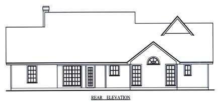 Country House Plan 75016 Rear Elevation