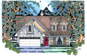 Country House Plan 75017 Elevation