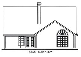 Country House Plan 75017 Rear Elevation