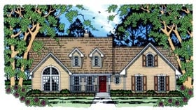 House Plan 75018 | Country Style Plan with 1876 Sq Ft, 4 Bedrooms, 2 Bathrooms, 2 Car Garage Elevation