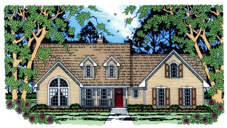 Country House Plan 75018 Elevation
