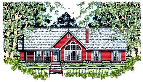 Country House Plan 75019 Elevation