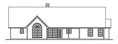 Country House Plan 75019 Rear Elevation