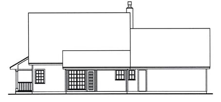 Country House Plan 75020 Rear Elevation