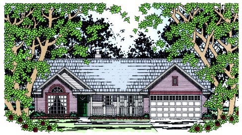 Country House Plan 75022 Elevation