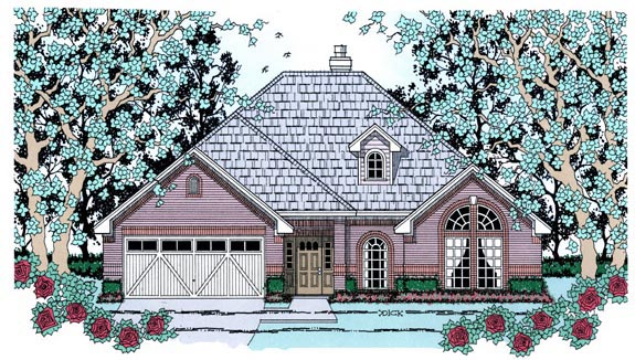 Traditional House Plan 75023 Elevation