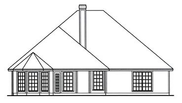 Traditional House Plan 75023 Rear Elevation