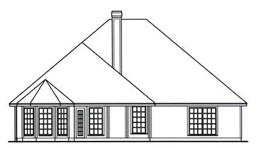 Country House Plan 75024 Rear Elevation